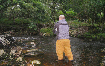 Fly fishing on the River Tavy…